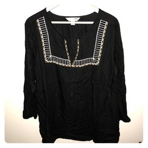 Black Tunic top -old navy
